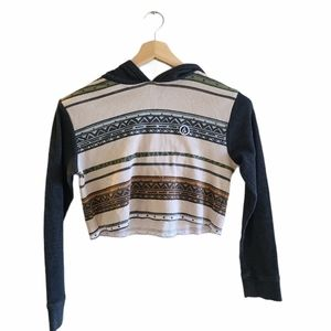 Volcom Aztec print long sleeved cropped sweater